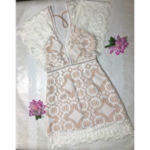 Foxiedox white lace dress
